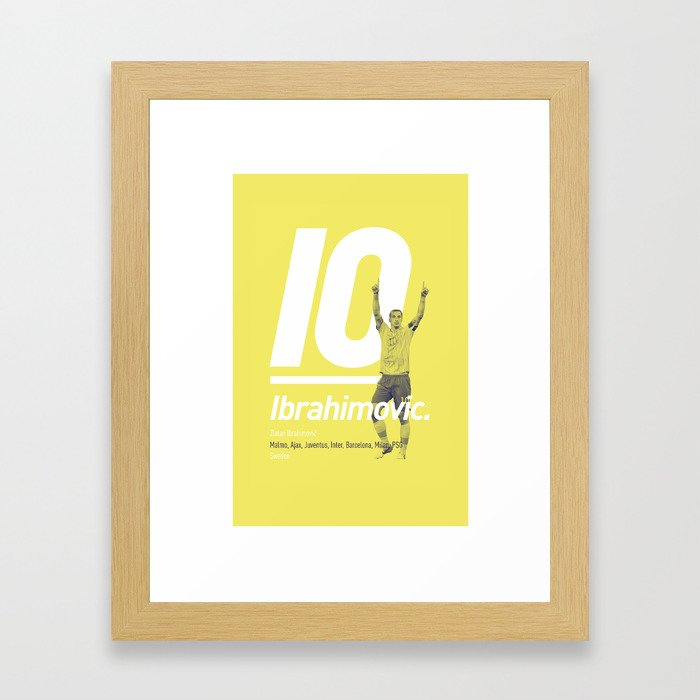 Ibrahimovic Sweden 10 Framed Art Print