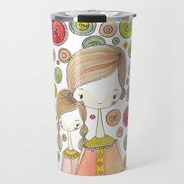 Motherhood Button Collection Travel Mug