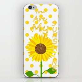 Inspired Sunshine Quote iPhone Skin