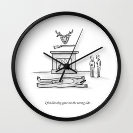 The Wrong Side Wall Clock