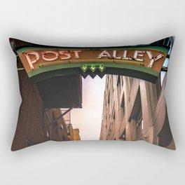 Post Alley in Seattle Washington Rectangular Pillow