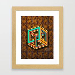 DIFORCE #3 Impossible Triangle Psychedelic Optical Illusion Framed Art Print