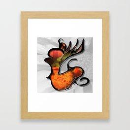 Love is at the Center Framed Art Print
