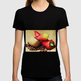 Coffee beans Kivi strawberry pepper T-shirt