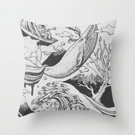 Deep and Blue Throw Pillow