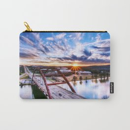 Famous Pennybacker 360 Bridge At Romantic Evening Red Austin Texas USA Ultra HD Carry-All Pouch
