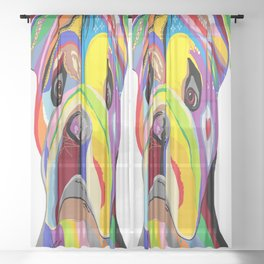 Bulldog Sheer Curtain