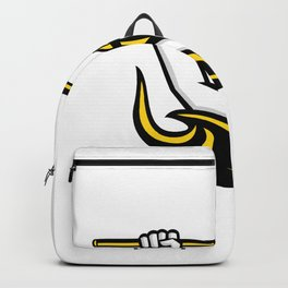 Triton Wielding Trident Mascot Backpack