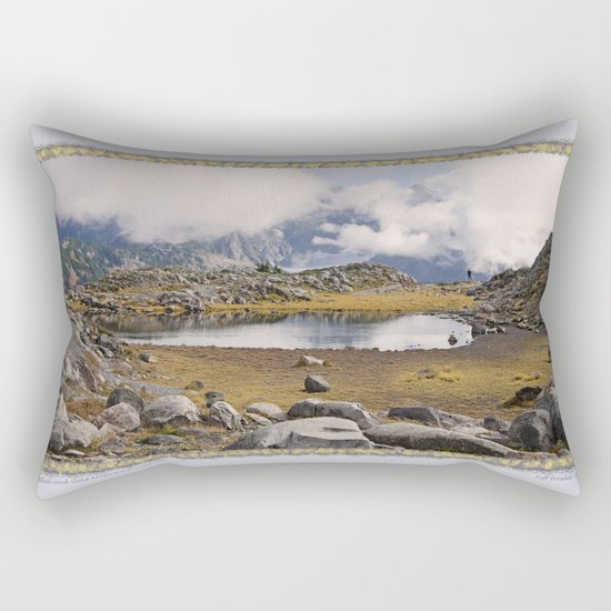 BLUE AND GOLD MOUNTAIN SOLITUDE Rectangular Pillow