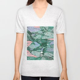 Drops in the Green Cell  Unisex V-Neck