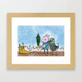 with concern for an old friend - a long overdue visit Framed Art Print