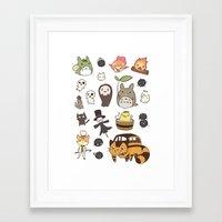 studio ghibli Framed Art Prints featuring studio ghibli  by skymerol