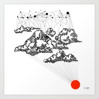the Clouds Art Print