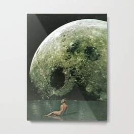 Quel giorno che arrivò la luna al lago mi stavo facendo il bidet Metal Print