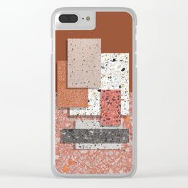 Terrazzo collage 1 Clear iPhone Case