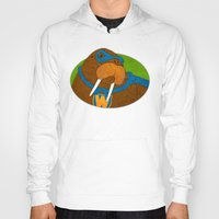 walrus Hoodies featuring Walrus by subpatch