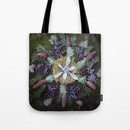 Nature Mandala: January Tote Bag