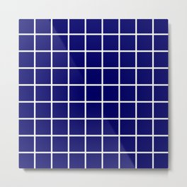 dark blue cube Metal Print