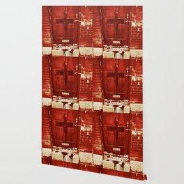 Bloody Cross Door Wallpaper