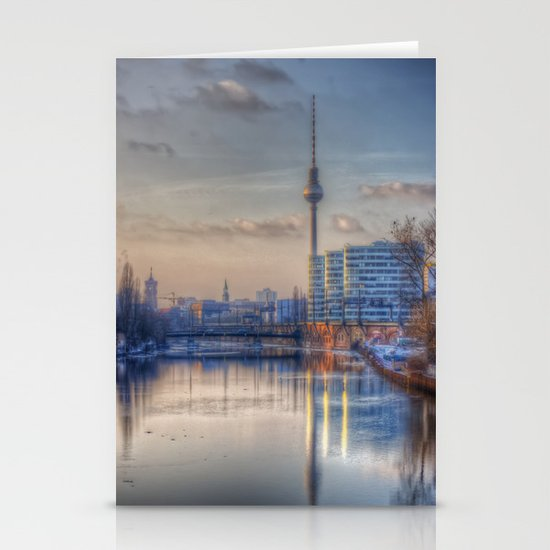 TV tower Berlin Stationery Cards