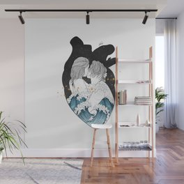 The ocean heart. Wall Mural