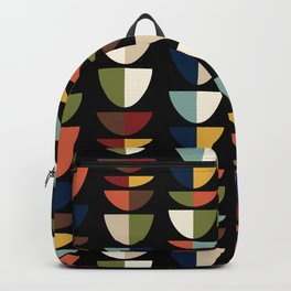 Retro Abstract, Vintage Mid Century Modern Backpack