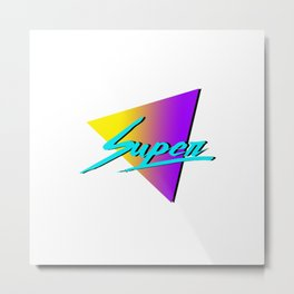 Super 80s Metal Print