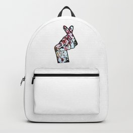 Love Finger Snap Crystals Backpack