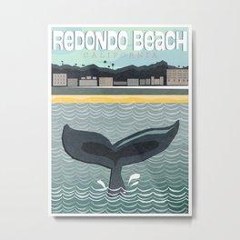 Redondo Beach Whale Poster Metal Print
