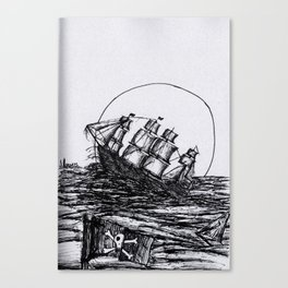 Captain Burr and His Slightly Civilized Fleet of Sky Pirates Canvas Print