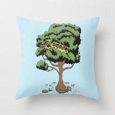 When Nature Wins Throw Pillow