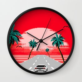 Sunset Vista Club Wall Clock
