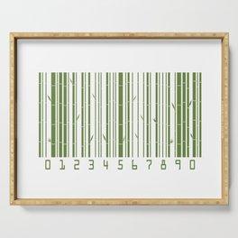 Bamboo Barcode Serving Tray