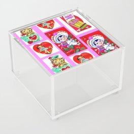 Be Mine, Valentine. Acrylic Box