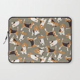 beagle scatter stone Laptop Sleeve