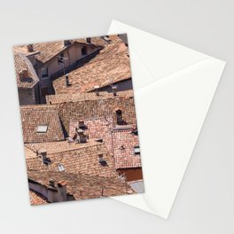 Old village roofs Stationery Cards