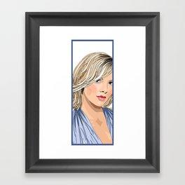 The Blonde 2 Framed Art Print
