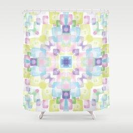 Spring kaleidoscope Shower Curtain