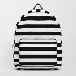 Modern Black White Stripes Monochrome Pattern Backpack