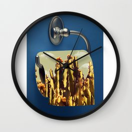 Ouch (cactus) Wall Clock