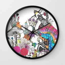 Flowers II Wall Clock