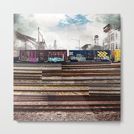 Mage Train Metal Print