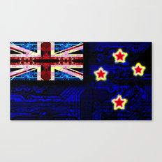 circuit board new zealand (flag) Canvas Print