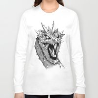 smaug Long Sleeve T-shirts featuring Dragon Smaug by BeggaIng