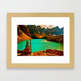 Emerald and Gold Enchantment Framed Art Print