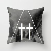witch Throw Pillows featuring Witch by A C U L T