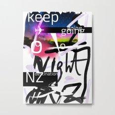 New Zealand destination poster Metal Print