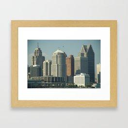 Downtown Buildings Framed Art Print