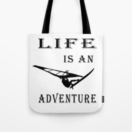 Life is an adventure Poster, Surf art, Gift for surfers Tote Bag