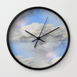Coming out of the smoke Wall Clock